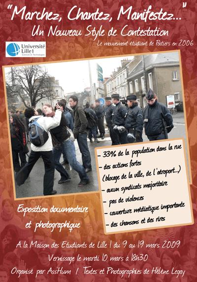 Affiche de lexposition Marchez, Chantez, Manifestez 2009