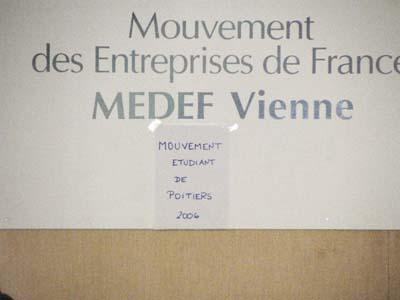 Mouvement des Entrerprises de France / Mouvement Etudiant de Poitiers 2006